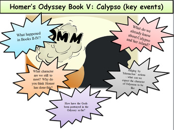Homer's Odyssey- Book V: Calypso (key events)