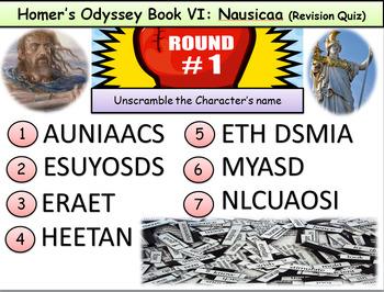 Homer's Odyssey – Book VI: Nausicaa (QUIZ)