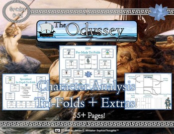 Homer's Odyssey Character and Literary Element Analysis Tri-Folds