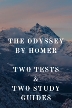 Homer's Odyssey: Two Tests and Corresponding Study Guides