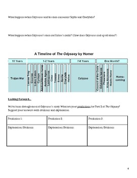 Homer's The Odyssey Part 1 Reading Questions and Guided Notes