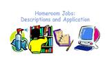 Homeroom Jobs – Descriptions and Application Form