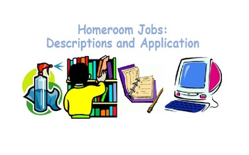 Homeroom Jobs – Descriptions and Application Form