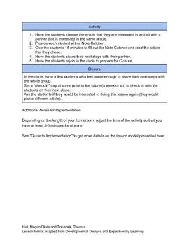 Homeroom/Advisory Lesson - Psychology
