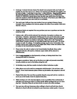 Homeroom Rules and Procedures
