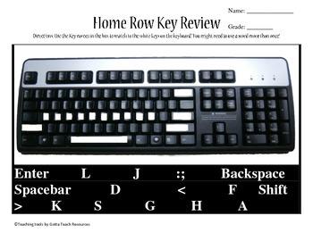 Homerow Keys Review Worksheet