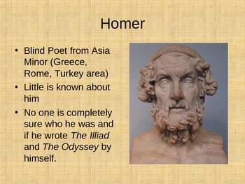 Homer's The Odyssey Background Info PowerPoint *Odyssey Unit Also Available