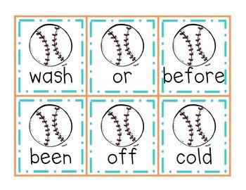 Homerun! A Baseball Sight Word Game {Dolch Second Grade Words}