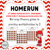 Homerun: A Multiplication Fact Game for Fluency with 2s