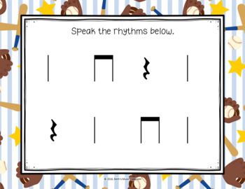 Homerun Rhythms! Pre-Reading - ta, ti-ti, rest (Kodaly Prepare-Present-Practice)