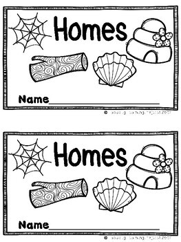 Homes  (A Sight Word Emergent Reader and Teacher Lap Book)