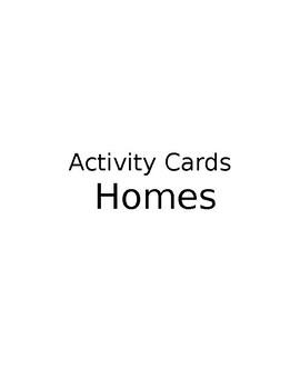 Homes Around The World- Pre Activity