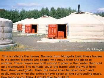 Homes Around The World- Pre Activity Powerpoint Presentation
