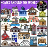 Homes Around the World Clip Art Set {Educlips Clipart}