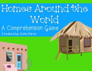 Homes Around the World Comprehension Game Kindergarten