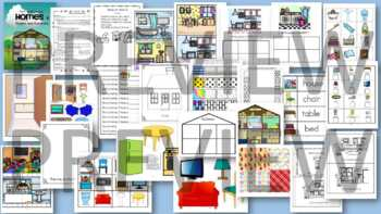 Homes Theme BUNDLE - Activities, Centers and Printables for Preschool