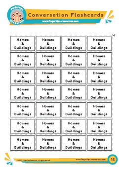 Homes & Buildings - Conversation Flashcards