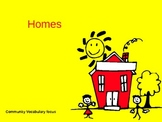 Homes Introduction Vocabulary Powerpoint for ELL Students ( Spanish speakers)