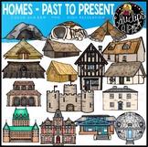 Homes - Past to Present Clip Art Set {Educlips Clipart}