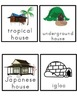 Homes (around the world) Picture Word Bank and Picture Cards