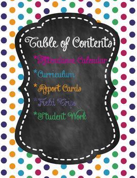 Homeschool Academic Portfolio Chalkboard