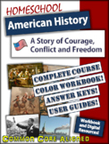 Homeschool American History Course - Full Color Workbook and Digital Resources!