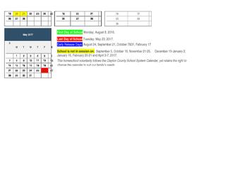 Homeschool Attendance Record-Clayton County, GA
