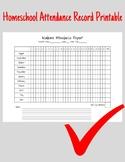 Homeschool Attendance Record Printable