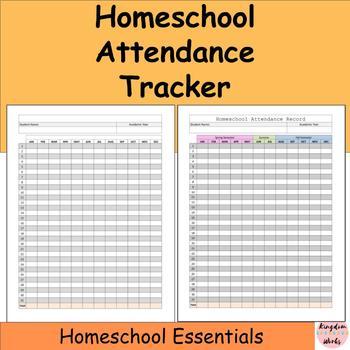 Homeschool Attendance Tracker