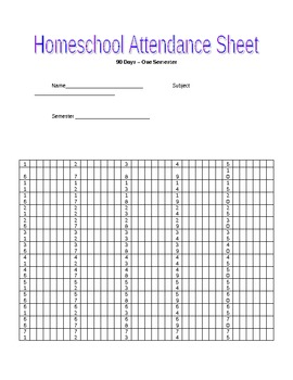 Strange Homeschool Attendance Records Worksheets Teaching Download Free Architecture Designs Scobabritishbridgeorg