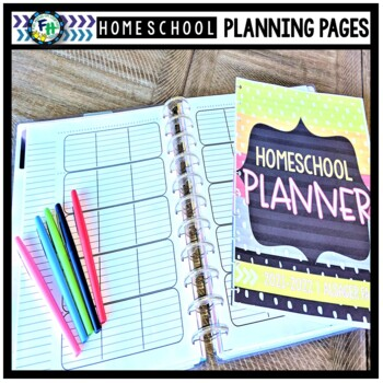 Homeschool binder planning pages by faith4lly homemade tpt for For planner