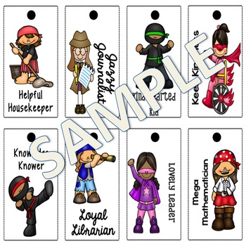 Homeschool Brag Tags with Editable Pages GIRL Color Edition