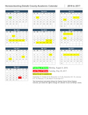 Homeschool Calendar-Dekalb County, GA