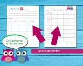 Homeschool Co-Op Editable Planner Printable