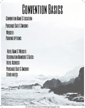 Homeschool Convention Planner {FREE}