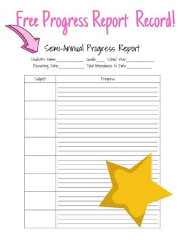 picture regarding Homeschool Progress Report Printable named Homeschool Semi-Yearly Breakthroughs Write-up Printable via Rising