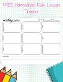 Homeschool Daily Lesson Tracker Printable