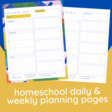 Homeschool Daily & Weekly Planning Pages | Printable + Digital