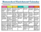 Homeschool Enrichment Calendar for June - Art STEM Technol