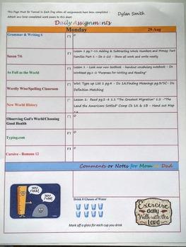 Homeschool Excel Lesson Planner