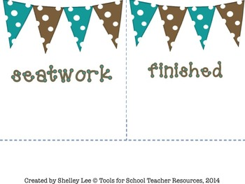 Homeschool Labels: Mocha Morning Polkas & Pendants
