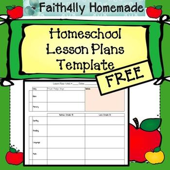 Homeschool Lesson Plan Template_FREE