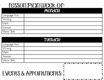 Homeschool Lesson Plan Templates