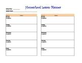 Homeschool Lesson Planner
