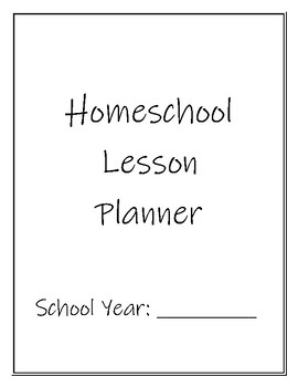 Homeschool Lesson Planner Cover