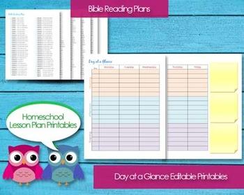 Homeschool Lesson Planner Printable PDF Editable Classroom Planning Unit Studies