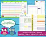 Homeschool Lesson Planner Printable PDF Editable Classroom