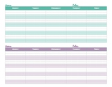 Homeschool Lesson Planner Up to 6 Kids--Download Once, Use