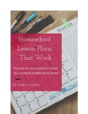 Homeschool Lesson Plans That Work