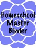 Homeschool Master Binder Cover